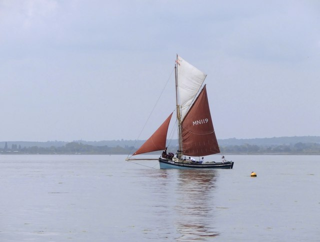 'Marigold' MN119, competing in the 2016 Blackwater Barge Match and Smack Race