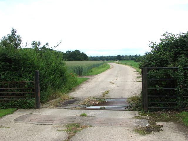 Access road to Rackheath Hall