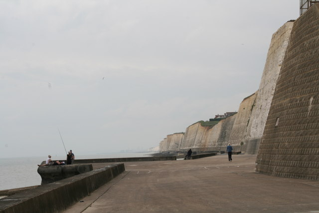 Fishing at the foot of the Peacehaven cliffs