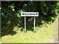 TM0750 : Willisham Village name sign on Barking Road by Adrian Cable