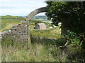 SE0222 : Arch in the ruins of Moor End, Sowerby by Humphrey Bolton