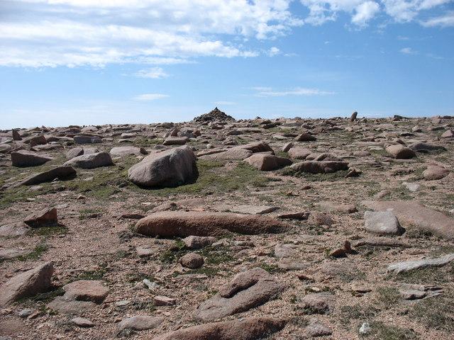 The summit of Ronas Hill