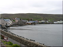 HU4039 : Scalloway harbour by David Purchase