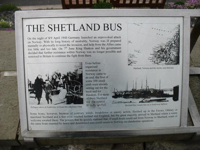The Shetland Bus, explanatory plaque (1)