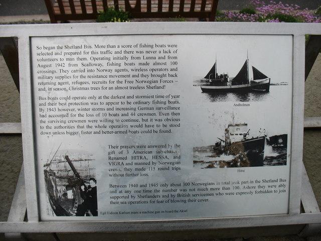 The Shetland Bus, explanatory plaque (2)