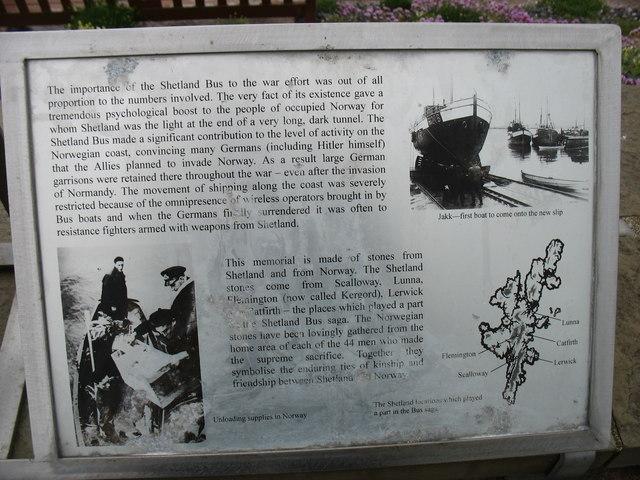 The Shetland Bus, explanatory plaque (3)