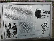 HU4039 : The Shetland Bus, explanatory plaque (3) by David Purchase