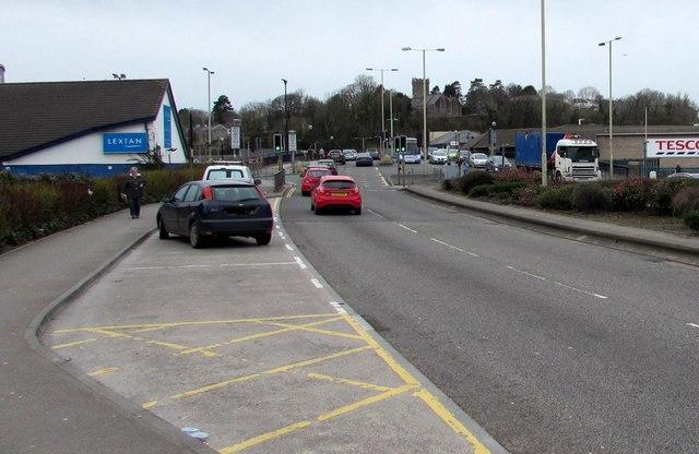 West along the A4061, Bridgend