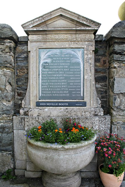 One of two war memorial tablets at St Martin's Church