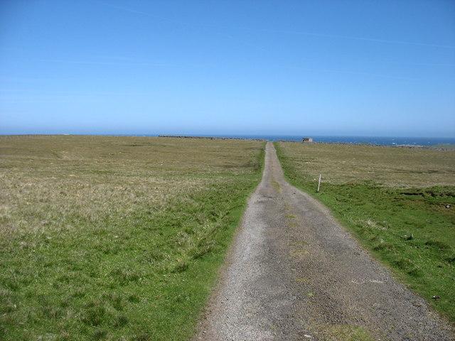 The track to Lamba Ness