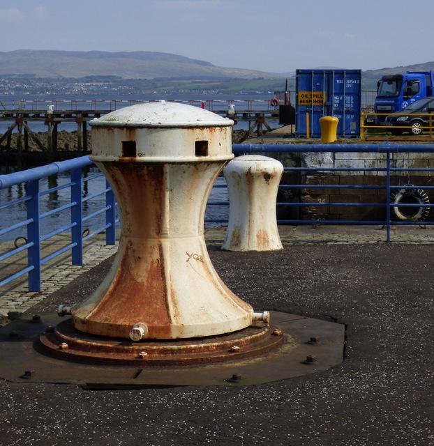 Old capstan at James Watt Dock