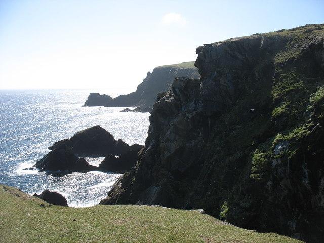 The cliffs at Girr Wick