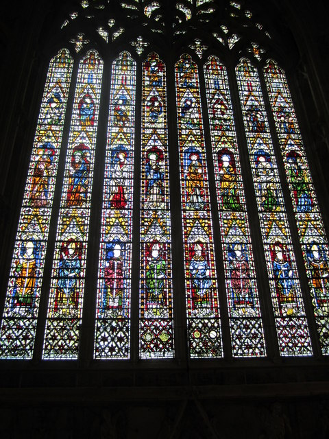 The West Window of York Minster, from on high
