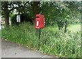 SJ7769 : Elizabeth II postbox on Main Road, Goostrey by JThomas