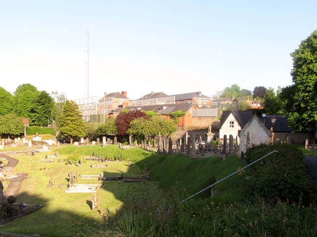 Gough Barracks from the graveyard of St Mark's Parish Church