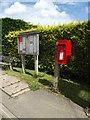 TM0650 : Willishan Village Notice Board & Fiske Plightle Postbox by Adrian Cable