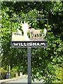 TM0650 : Willisham Village sign by Adrian Cable