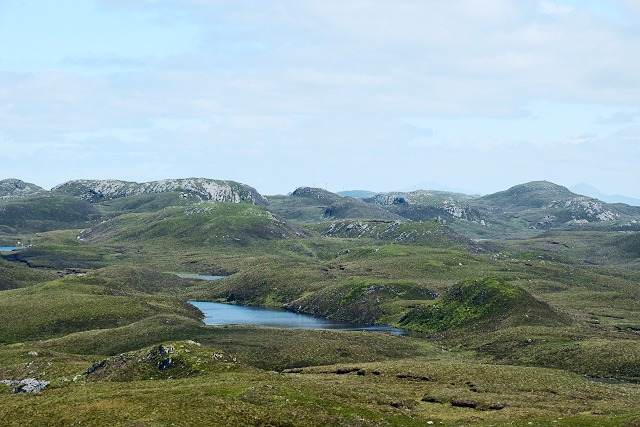 Loch a' Bhealach from Sìdh Mòr