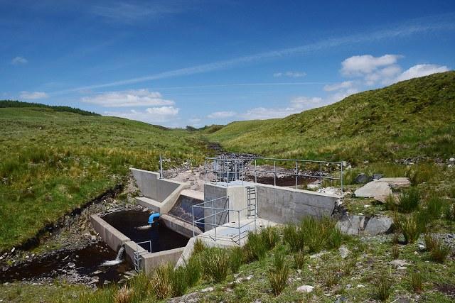 Intake for the Ederline Hydro Scheme