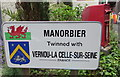 SS0697 : Manorbier twinning information by Jaggery