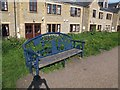 SE2236 : Blue bench by the canal by Stephen Craven