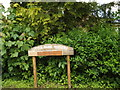 TM0847 : Little Park Nursery sign by Adrian Cable