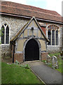 TM0846 : St.Mary's Church Porch by Adrian Cable