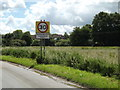 TM0848 : Somersham Village Name sign on Ipswich Road by Adrian Cable