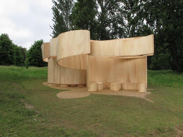 Temporary summer house by Barkow Leibinger, Serpentine Gallery