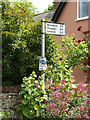 TM0846 : Roadsign on High Street by Adrian Cable