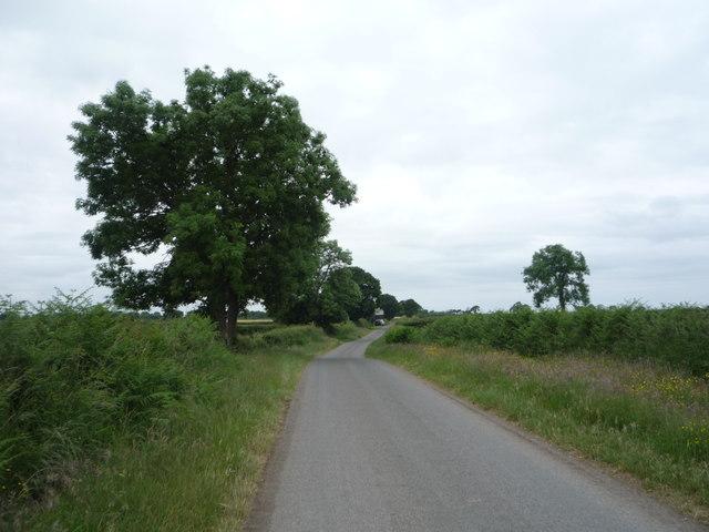 Minor road towards Aikton