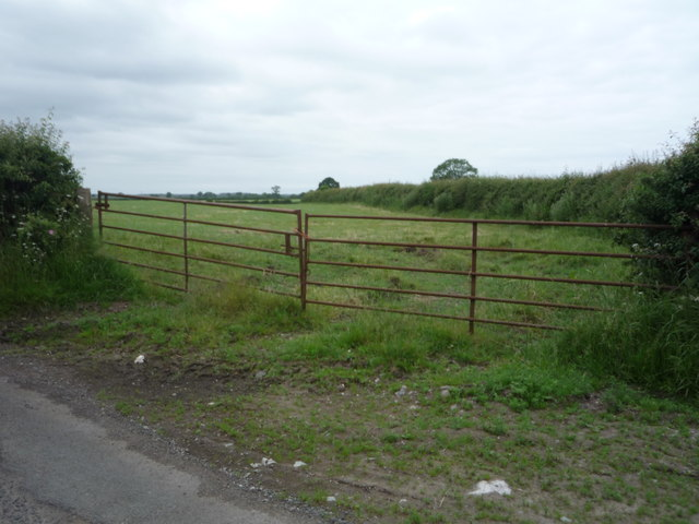 Field entrance near Little Bampton