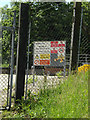 TM1147 : Bramford Water Treatment Works sign by Adrian Cable