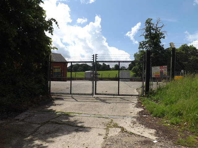 Entrance to Bramford Water Treatment Works