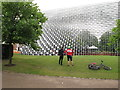 TQ2679 : Serpentine Pavilion 2016, side view by David Hawgood