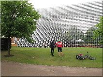 TQ2679 : Serpentine Pavilion 2016, side view by David Hawgood
