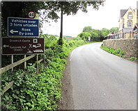 SO5819 : B4234 direction signs on the approach to Kerne Bridge over the River Wye by Jaggery