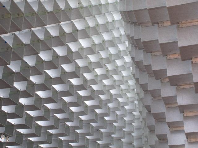 Serpentine Pavilion 2016, view up inside