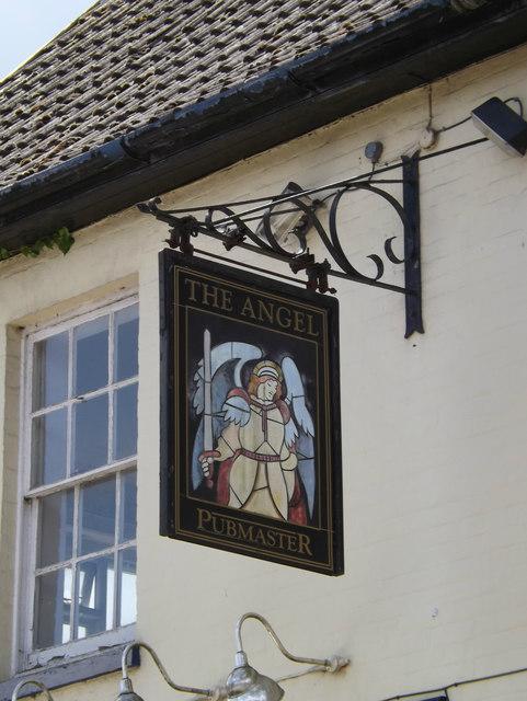 The Angel Inn Public House sign