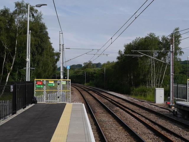 The north-west of platform 2, Kirkstall Forge Station