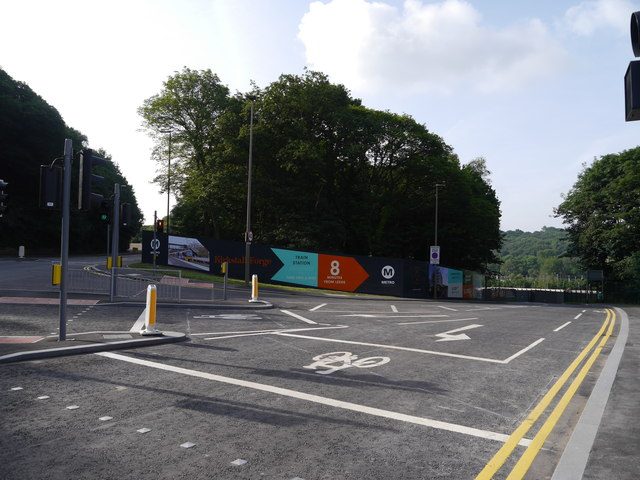 The new road into the Kirkstall Forge site from Abbey Road