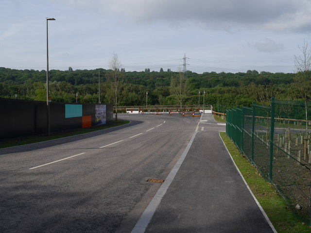 The new road in Kirkstall Forge
