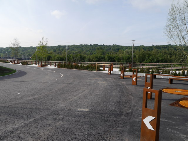 A corner of the new road into Kirkstall Forge