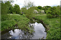 SP3677 : River Sowe downstream from the Allard Way crossing, Stoke, Coventry by Robin Stott