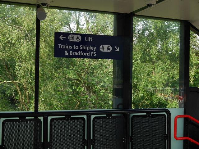 On the footbridge, Kirkstall Forge Station