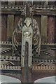 TF8709 : Carved angel, All Saints' church, Necton by J.Hannan-Briggs