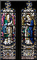 TL0319 : St Mary, Kemsworth - Stained glass window by John Salmon