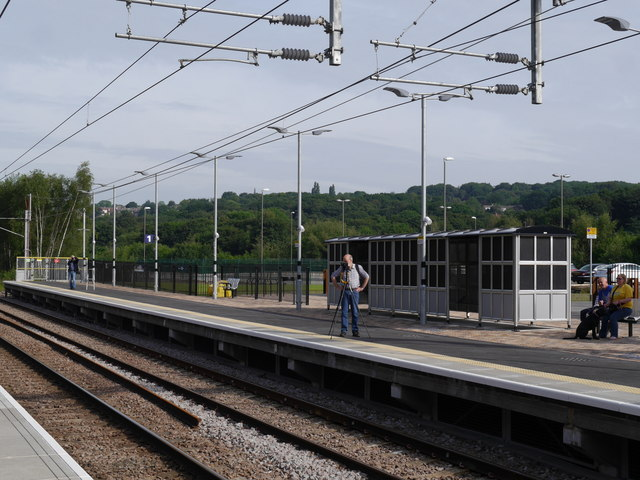 Photographing us, Kirkstall Forge station