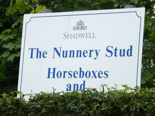 The Nunnery Stud sign