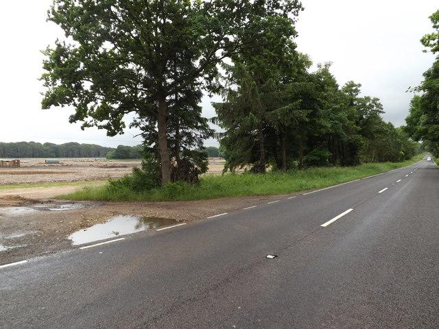 A1066 Thetford Road & Field Entrance